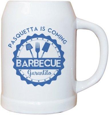 My custom style boccale birra ceramica 0,500 l # modello pasqua-barbecue #