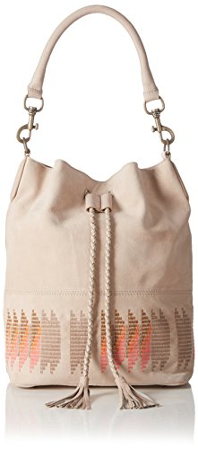 Liebeskind Berlin Debby Embroidery/suede Leather, Sacs portés dos Ivoire - Elfenbein (light powder 2004)