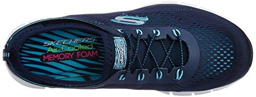 Skechers Glider-Harmony, Scarpe da Tennis Donna Blu (nvaq)