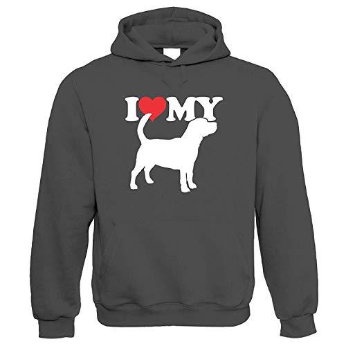 I Love My Beagle Kapuze Handwerkskünste Hund Show Hundehütte Verein Pedigree Rasse Welpe Hund Geschenk Pelz Baby Geliebten Eigentümer Herren Best Friend Hunde Geschenk Ihn Sie Geburtstag -