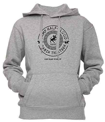 Erido Cabin Thirteen - Hades - Percy Jackson - Camp Half-Blood Unisex Herren Damen Kapuzenpullover Sweatshirt Pullover Grau Größe S Men's Women's Hoodie Grey Small Size S -