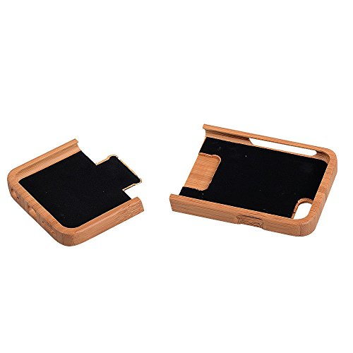 frixie (TM)–Custodia fatta a mano in legno di bambù per iPhone 7Plus 6Plus 6S Plus 5,5Geniune Cover Posteriore rigida in legno naturale Bamboo Iphone 7plus Bamboo Iphone 7plus