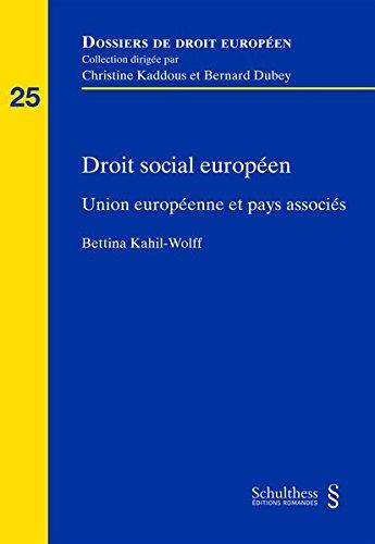 Droit social européen : Union européenne et pays associés