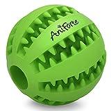 ORIGINAL AniForte® Dental-Ball für Hunde und Welpen, Zahn-Pflege-Ball, Kau-Spielzeug mit Leckerli-Loch in der Farbe grün, für die perfekte Zahn-Pflege und Spiel-Spaß, Hunde-Spielzeug, Hunde-ball & Snack-ball aus Naturkautschuk, 5 cm Durchmesser, Robuster Hunde-Spiel-Ball, Dental-Zahnpflege-Funktion