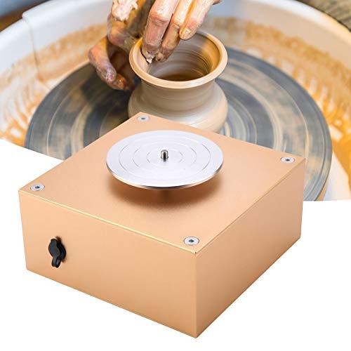 Akozon Ceramics Clay Machine12V 1500RPM Elektrische Töpferscheibe Maschine Keramik Werfen Arbeit Clay Shaping Tool 220 V EU Elektrische Keramik DIY Clay Tool mitFach für Keramik Maschine (EU Plug)