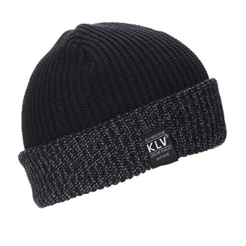 Sombrero De Tejer Kobay Baggy Hombres Hombres Mujeres Cálido Modernas  Casual Crochet Invierno Tejer Esquí Beanie 5605fa526b86