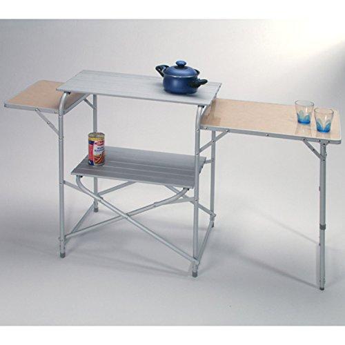 Siehe Beschreibung Camping-Küche Luzern 2 Kunststoff Abstellflächen und großer Alu Arbeitsfläche: Campingmöbel Reiseküche Kocherschrank Camping Schrank Zeltzubehör