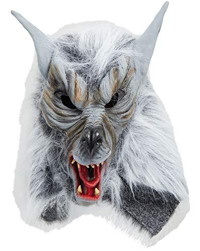 Sofias Closet Fancy Kleid Maske für Erwachsene Silber Rücken grau Wolf Killer Werwolf heulender Scary Furry (Scary Killer Maske)
