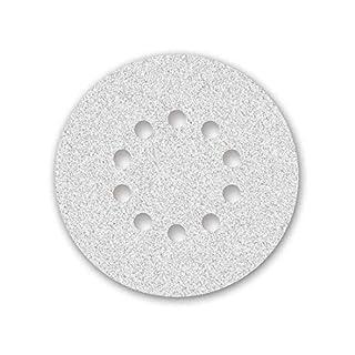 25 MENZER Klett-Schleifscheiben für Langhalsschleifer weiß - ø 225 mm - Korn 320-10-Loch