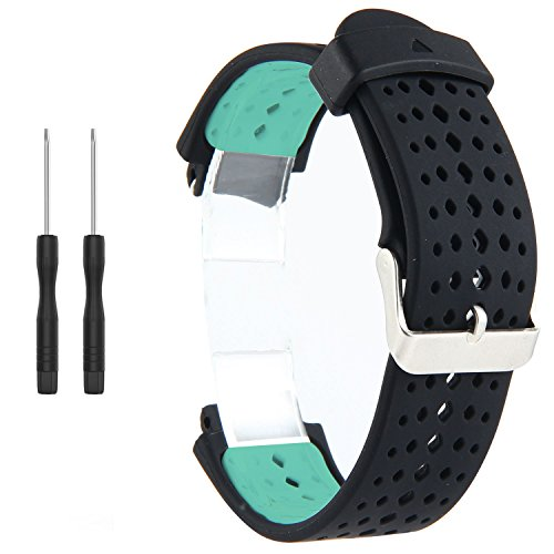 Correa de repuesto para reloj inteligente Garmin Forerunner 220/230/235/620/630/735XT (incluye herramientas de instalación) de Kobwa