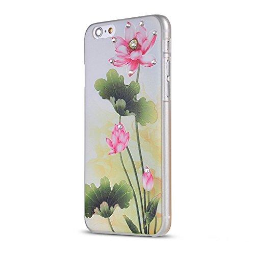 UKDANDANWEI Apple iPhone 5S Hülle Case - Bling Strass Ultra Dünn Hart PC Hülle Glitzer Rückseite Slim Etui Schale für Apple iPhone 5S -27 Bling-13