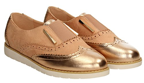 SwankySwans - Mocassini donna Rose Gold