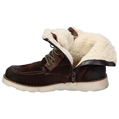 Napapijri Linn 0594520-046 Jungen Leder-Winterboots Teddyfutter Schuhe Braun Braun
