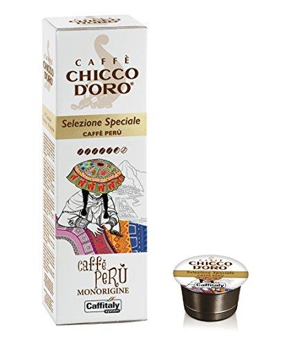 Capsule Caffitaly system, Monorigine Perù, Chicco d'Oro 58