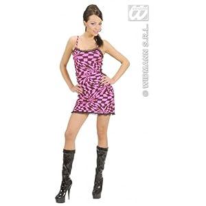 WIDMANN Disfraz de Disco Dancer años 70 rosa adulto Carnaval