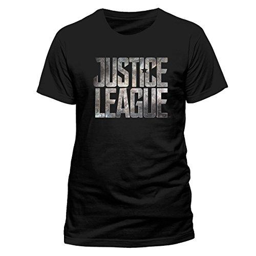 CID Men's Justice League Movie-Logo T-Shirt