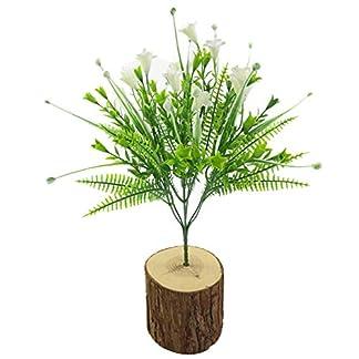 RIsxffp Plantas Artificiales 7 Ramas de Lirio Artificial Flor Falsa Bricolaje Etapa de jardín Boda decoración del Partido