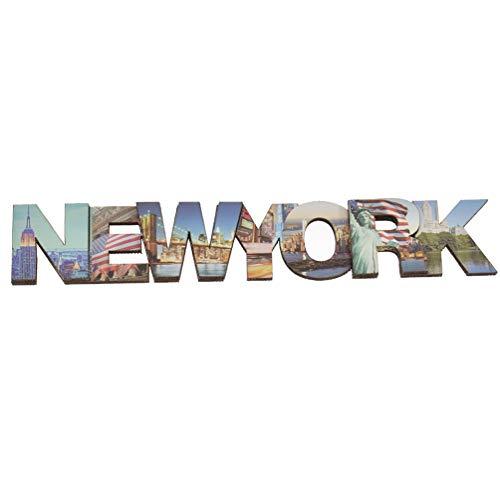 Hongma Kühlschrankmagnete Buchstaben New York City für Pinnwand Whiteboard Dekor