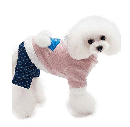 HYCy Hund Mauml;ntel Katze Kleidung Zum Hunde Winddicht Kalt Haustier-Kostuuml;m Klein Mittel Groszlig; Huuml;ndchen Draussen Innen Aktivitauml;Ten