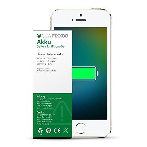 GIGA Fixxoo iPhone 5s Akku Ersatz zum Wechseln und Tauschen bei Defekter Batterie