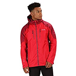 Regatta Herren Calderdale III Waterproof & Breathable Mesh Lined Outdoor Shell Jacket Jacke, Klassisches Rot/Delhi Rot, XXL