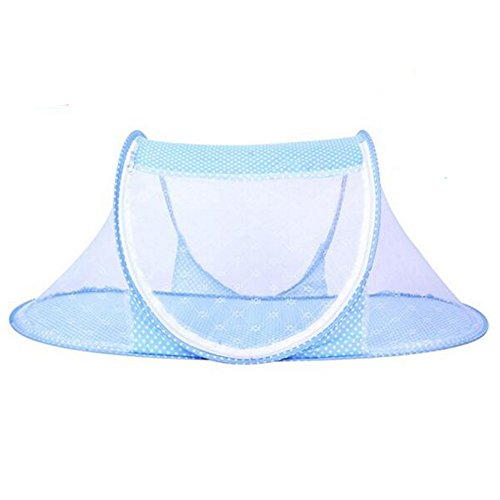 xiangshang shangmao Baby Travel Play Tent Pop Up Moustiquaire Lit Canopy Beach Sun Shelter Blue