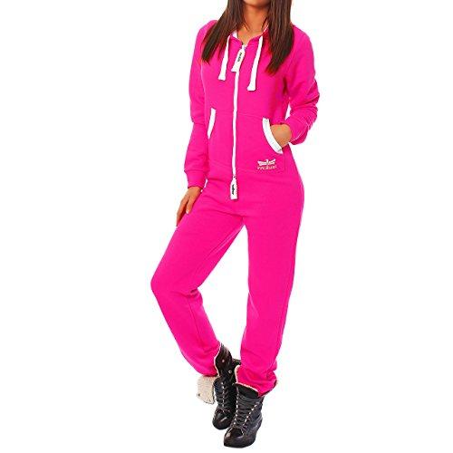 HB4 Finchgirl Damen Jumpsuit Jogging Anzug Trainingsanzug Overall Rosa S