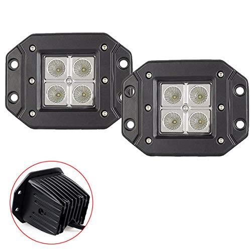 Willpower Baccelli a LED da 3 pollici a incasso 12W luce di lavoro a led inondazione fendinebbia guida fuoristrada per ATV, SUV, UTV, Pickup, camion, trattori, moto, 4WD, veicolo -2PCS