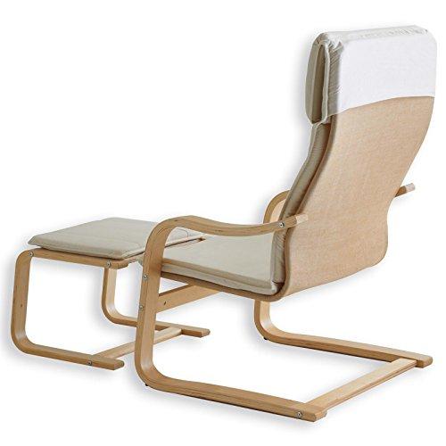 Relax – Sessel LINA beige mit Fußteil - 2