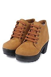Do Bhai Stylish Boot-MSD Heel Shoes For Women (Euro39, Tan/Black)