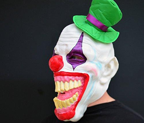 Kostüm Hutmacher Böser - Unheimlich gruselig Halloween Clown böse Kostüm Latex-Maske - Ha ha Hutmacher Clown
