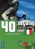 Coffret 40 leçons pour parler italien (livre + 2CD)...