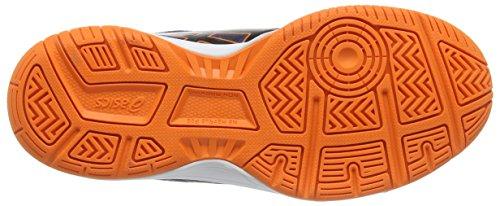 Asics Gel-upcourt Gs, Unisex-Erwachsene Volleyballschuhe Blau (navy/black/hot Orange 5090)