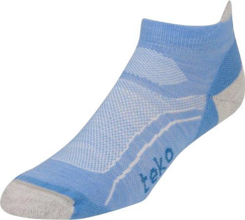 TEKO Damen Light Low Wandern/Laufen Socken aus Bio Merinowolle, damen, Della/Silver