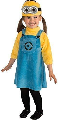 Baby Mädchen Kleinkind Ich - Einfach Unverbesserlich Minion Karton Film Halloween Kostüm Outfit Verkleidung 1-2 jahre 12-24 monate (Minion Kleinkind Halloween Kostüme)