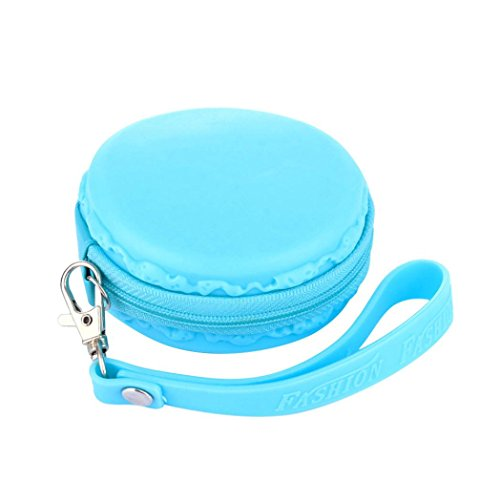 Preisvergleich Produktbild No gyroWebla Geschenk für Fidget Hand Spinner Dreieck Finger Spielzeug Focus ADHS Autismus Daten Kopfhörer Kabel Kopfhörer Kopfhörer Tasche Box Tragetasche Paket (Blau)