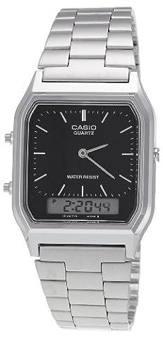 Casio AQ-230A-1DMQYES Small Unisex Combi Bracelet Watch