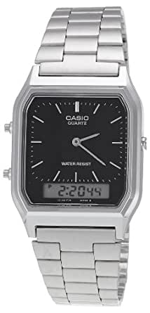 Casio Collection – Unisex-Armbanduhr mit Analog/Digital-Display und Edelstahlarmband – AQ-230A-1DMQYES