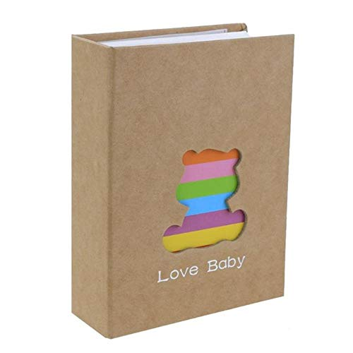 MOGEYX Album6 Zoll 100 Seiten Pocket Interleaf Typ Fotoalbum Picture Storage Frame, Bear