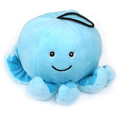 Chiwava 11,9cm peluche Squeak Dog Toy Stuffed Smile Octopus Squeaky Puppy InterActive Play taglia S
