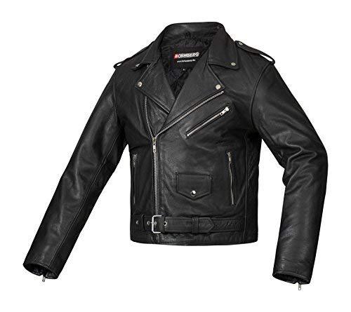 Bohmberg Premium- Chaqueta pesada de motociclista 100% cuero...