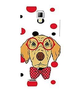 PrintVisa Animated Dog 3D Hard Polycarbonate Designer Back Case Cover for Micromax Canvas Xpress A99 :: Micromax A99 Canvas Xpress