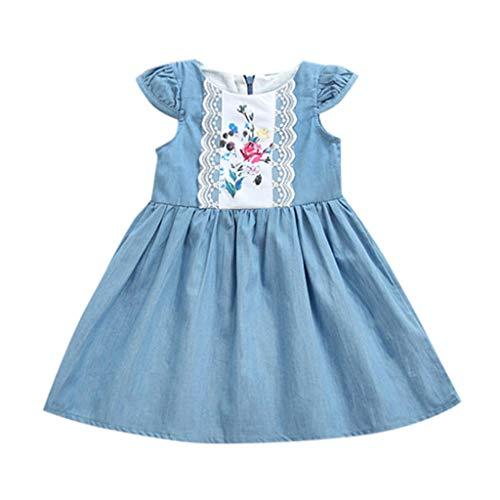 Mädchen-Kinder Prinzessin fest Brautkleider Kinder festlich Partykleid Festzug -