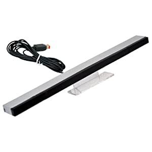 Barre Capteur Infra Rouge Filaire Compatible Nintendo Wii + Support