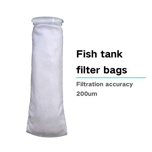 Yosoo Filterbeutel, Filtersack 105 x 380mm Filter Filtrierung Beutel aus Polypropylen für Aquarium Marine (200 Mikron) -