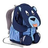 Affenzahn Kinderrucksack mit Brustgurt Bela Bär für 3-5 Jährige Jungen und Mädchen im Kindergarten oder Kita - Blau