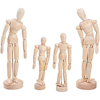 4.5//5.5//8 INCH Wooden Human Mannequin Artist Movable Male Body Drawing Articulated Artist Manikin Figure Solid Wood for Art//Body Drawing by Futurepast