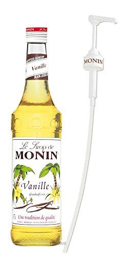 Monin Sirup Vanille 0,7l inkl. Dosierpumpe PiHaMi® Set (Vanille-kaffee-sirup)