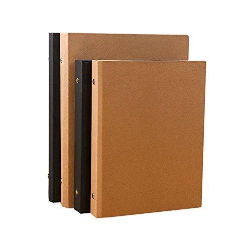 A5–6Löcher Papier Planer Notebook Cover, Ring Binder Wood A5-6 Holes braun