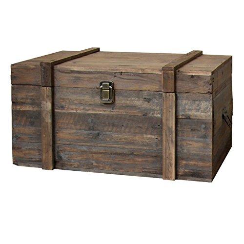 Estilo antiguo baúl–baúl de madera de almacenaje 70x 40x 3